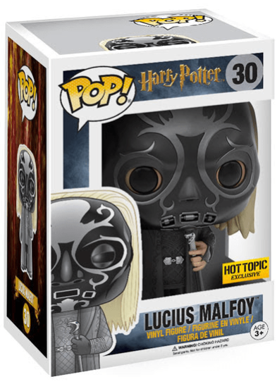 #30 Lucius Malfoy (Death Eater Mask) | Harry Potter Funko Pop! Vinyl in box