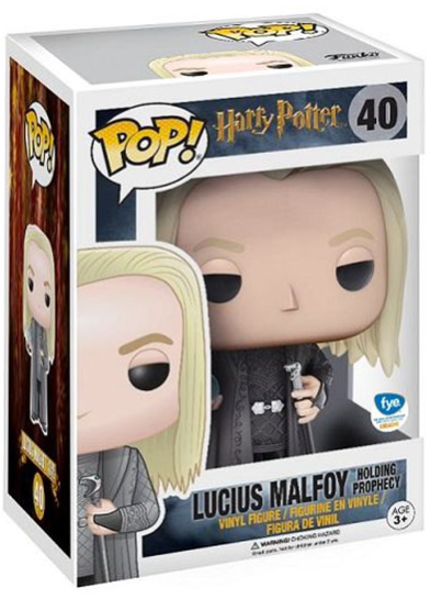 #40 Lucius Malfoy (With Prophecy) | Harry Potter Funko Pop! Vinyl in box