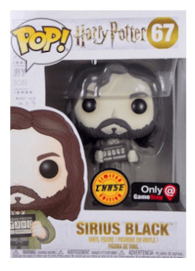 #67 Sirius Black (Azkaban) (Chase Edition) (Black & White) | Harry Potter Funko Pop! Vinyl in box