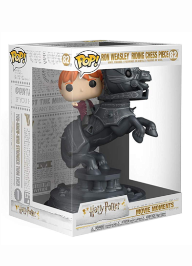 #82 Ron Weasley (Riding Chess Piece) (Movie Moment) | Harry Potter Funko Pop! Vinyl in box