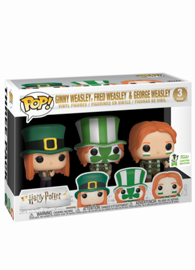 #85 George Weasley (Quidditch World Cup) (3 Pack) | Harry Potter Funko Pop! Vinyl in box