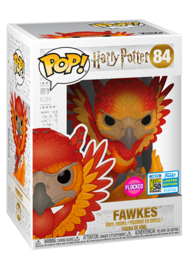 #84 Fawkes (Flocked) | Harry Potter Funko Pop! Vinyl in box