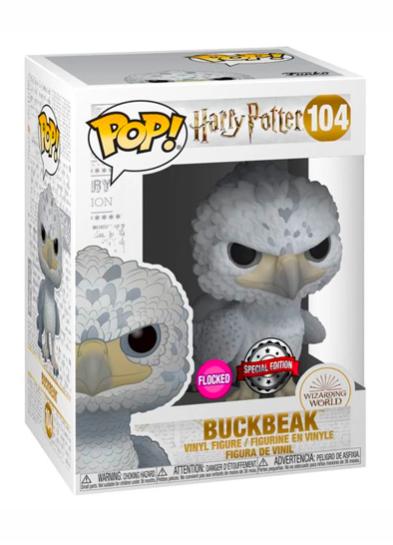 #104 Buckbeak (Black Eyes) (Flocked) | Harry Potter Funko Pop! Vinyl in box
