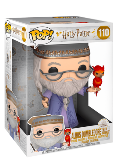 #110 Albus Dumbledore (With Fawkes) (10″ Super Sized Pop)   Harry Potter Funko Pop! Vinyl in box