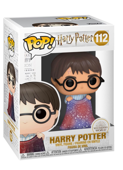 #112 Harry Potter (With Invisibility Cloak) | Harry Potter Funko Pop! Vinyl in box