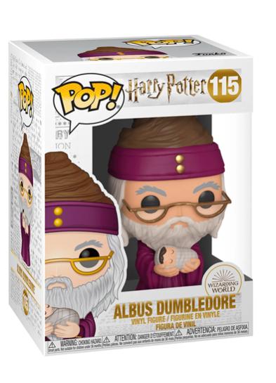 #115 Albus Dumbledore (With Baby Harry) | Harry Potter Funko Pop! Vinyl in box