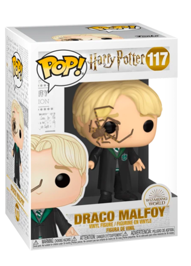 #117 Draco Malfoy (With Whip Spider) | Harry Potter Funko Pop! Vinyl in box